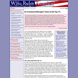 Who Rules America: An Investment Manager's View on the Top 1%