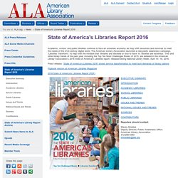 State of America's Libraries Report 2016