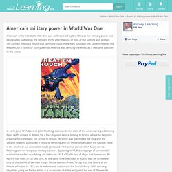 America's military power in World War One