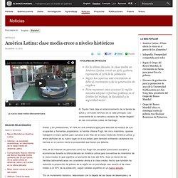 América Latina: clase media crece a niveles históricos