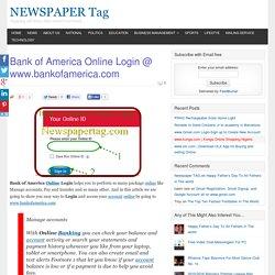 Bank of America Online Login @ www.bankofamerica.com