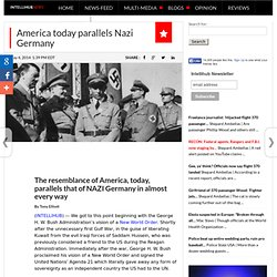 America today parallels Nazi Germany