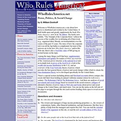 Who Rules America? Power, Politics, & Social Change