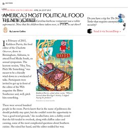 America's Most Political Food