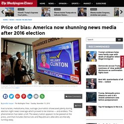 America now shunning news media after 2016 election