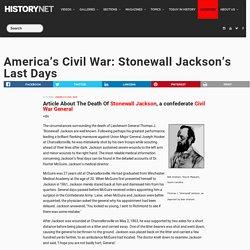 America's Civil War: Stonewall Jackson's Last Days