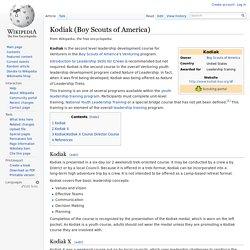 Kodiak (Boy Scouts of America)
