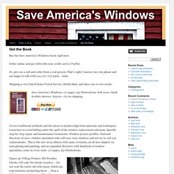Get the Book - Save America's WindowsSave America's Windows