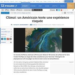 Environnement : Climat: un Américain tente une expérience risquée