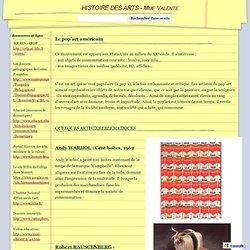 Le pop'art américain - HISTOIRE DES ARTS - Collège