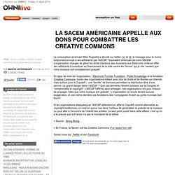 La Sacem américaine appelle aux dons pour combattre les Creative Commons » Article » OWNI_Live!,