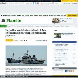 La justice américaine interdit à Sea Shepherd de harceler les baleiniers japonais