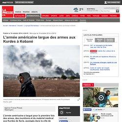 L'armée américaine largue des armes aux Kurdes à Kobané