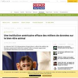 L'USAD américaine efface des milliers de données sur le bien-être animal - Sciencesetavenir.fr