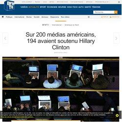 Sur 200 médias américains, 194 avaient soutenu Hillary Clinton