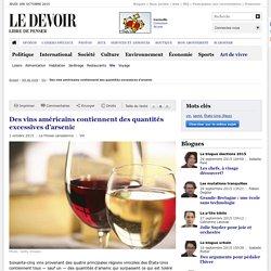 Des vins américains contiennent des quantités excessives d'arsenic