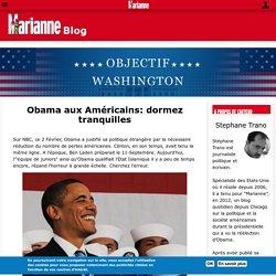 Obama aux Américains: dormez tranquilles