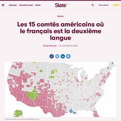 Les 15 comtés américains où le français est la deuxième langue
