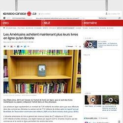 Les Américains achètent maintenant plus leurs livres en ligne qu'en librairie
