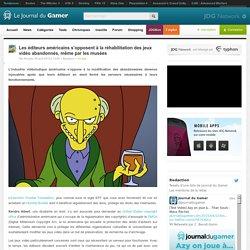 Les éditeurs américains s'opposent à la réhabilitation des jeux vidéo abandonnés, même par les musées