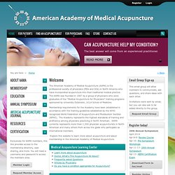American Academy of Medical Acupuncture Homepage