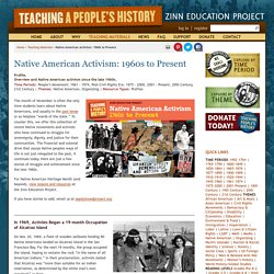 » Native American Activism: 1960s to Present Zinn Education Project