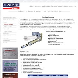 American Actuators - Ram-style Actuators, Rod Actuators, Electric Cylinders