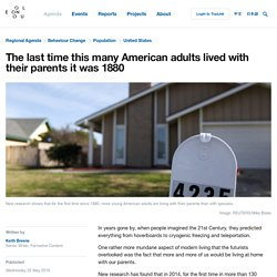 The last time this many American adults lived with their parents it was 1880