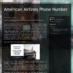 Redefine the Meaning of Convenience via American Airlines Phone Number