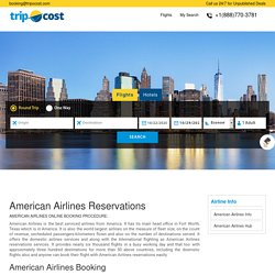 American Airlines Reservations & Ticket Booking Sale