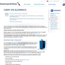American Airlines Carry On Baggage Allowance 2013 Malaysia