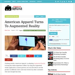 American Apparel Turns To Augmented Reality