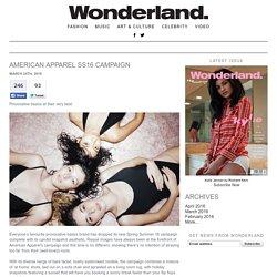 American Apparel SS16 Campaign
