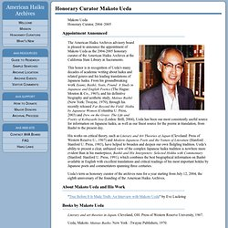American Haiku Archives Honorary Curator Makoto Ueda