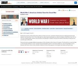 World War I: American Artists View the Great War