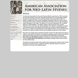 American Association for Neo-Latin Studies