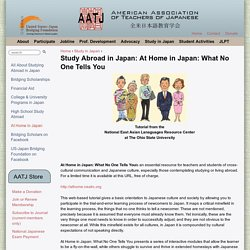 Study Abroad in Japan: At Home in Japan: What No One Tells You