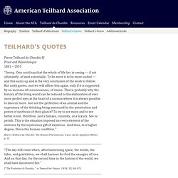 American Teilhard Association / teilhards-quotes
