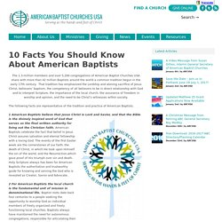 10 Facts You Should Know About American Baptists
