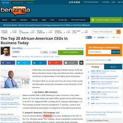 The Top 20 African-American CEOs in Business Today - General Motors Company (NYSE:GM), Comcast Corporation (NASDAQ:CMCSA)