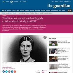 The 10 American writers that English children should study for GCSE