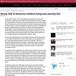 Nearly half of American children living near poverty line