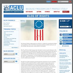 NDAA | American Civil Liberties Union