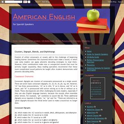 American English: Clusters, Digraph, Blends, and Diphthongs