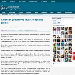 American company to invest in housing project