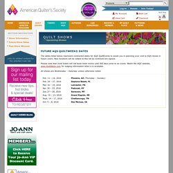 American Quilter's Society - Shows & Contests: Upcoming Shows - AQS Quilt Shows and Contests, Quilting Memberships