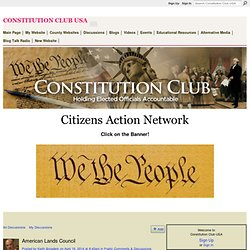American Lands Council - Constitution Club USA