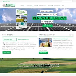 ACORE | American Council On Renewable Energy