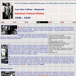 American Cultural History - 1930-1939