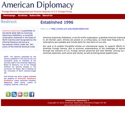 American Diplomacy | Established 1996